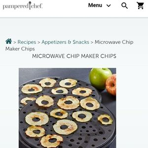 The Pampered Chef Microwave Chip Maker NWOB
